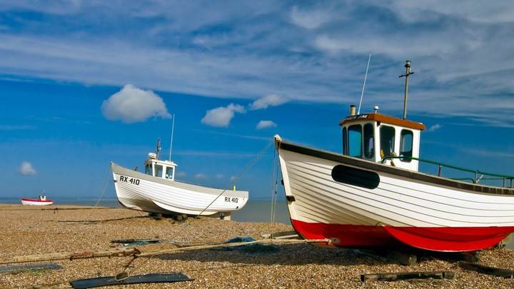 Boats Parked At Beach